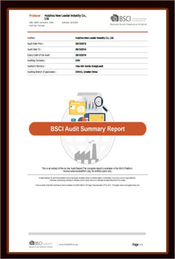 BSCI认证(社会责任体系)