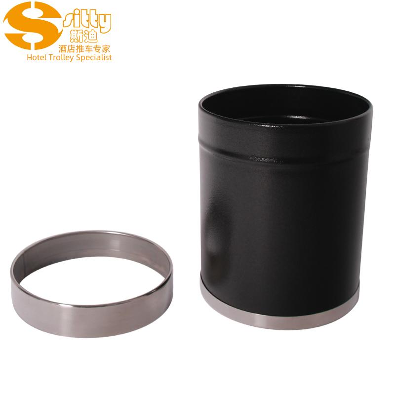0240CB黑色不锈钢活动圈圆形桶