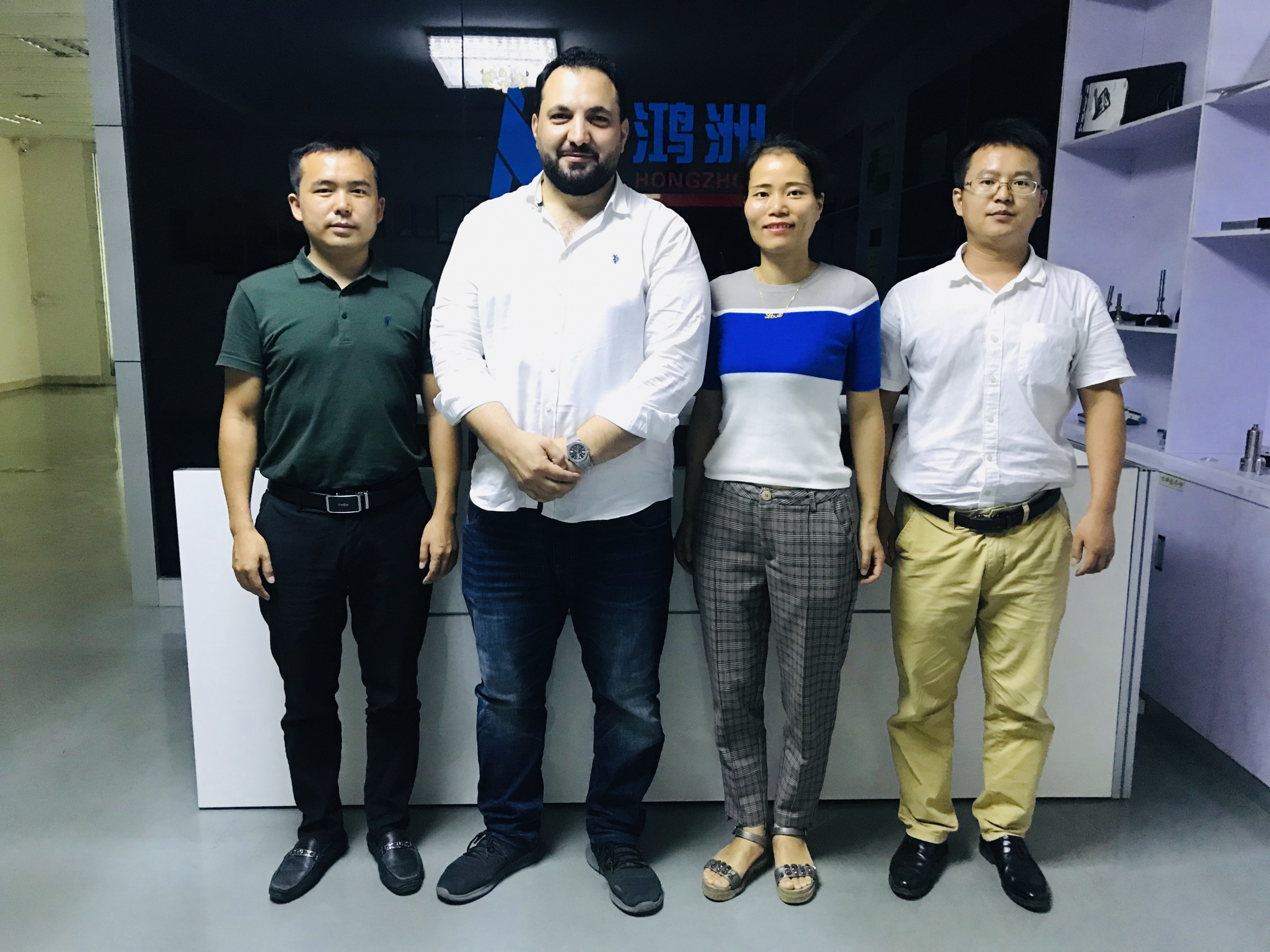 Welcomed Saudi Arabia customer Salah to visit Hongzhou