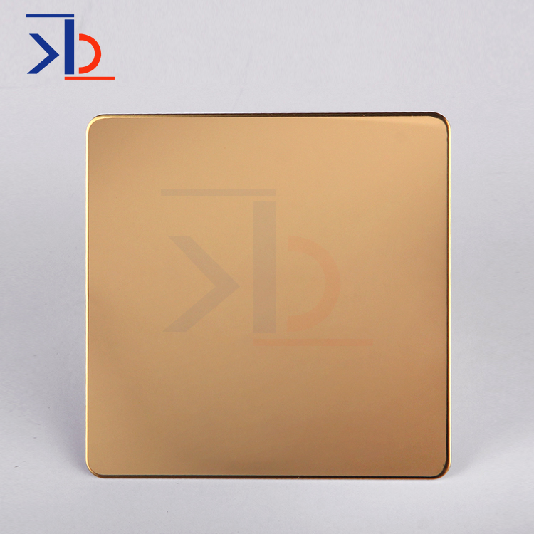 Titanium Gold Mirror Polishing Stainless Steel Sheet