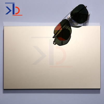 Polished Sheets Gold Titanium Mirror Finishing Stainless Steel Sheet Panel