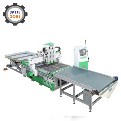 Three Spindles CNC Routers with auto loading and unloading