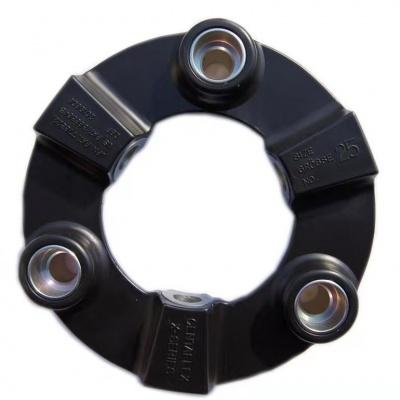 CENTAFLEX 高弹橡胶联轴器  世界上CENTAFLEX-A结构形式的设计者、生产者,后来风行业界的联轴器,也是当今应用范围最广泛的联轴器。
