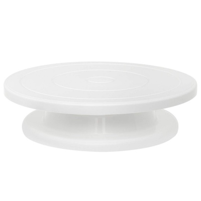Hot-selling Light Plastic Wedding Revolving Birthday Cake Stand Decorating Tool