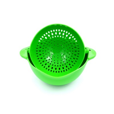 2 Tier Mini Plastic Fruit and Vegetable Sink Strainer Basket