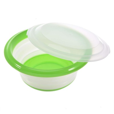 portable space saver foldable silicone bowl set with cover