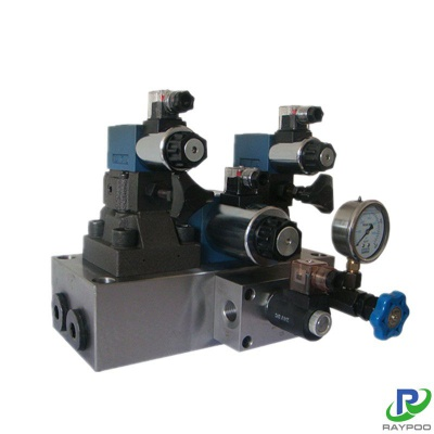 Hydraulic numerical control bending machine hydraulic valve group