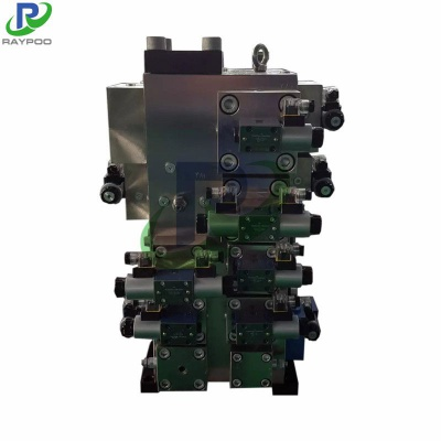 Hydraulic press two-way logic valve manifold