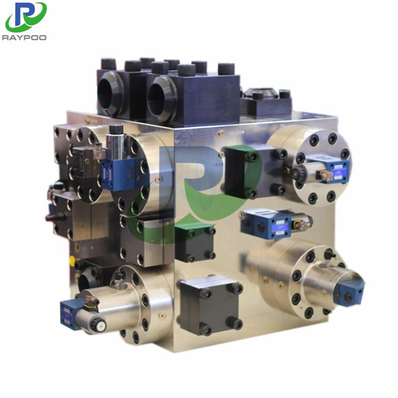 High pressure large flow valve group of hydraulic forging press