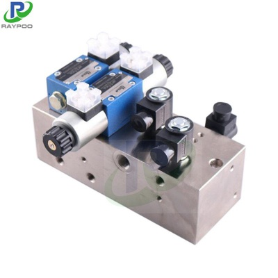Plate type parallel valve group