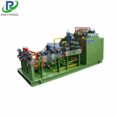 Integrated valve block for steel strip mill