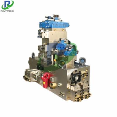 Forging press integrated valve block