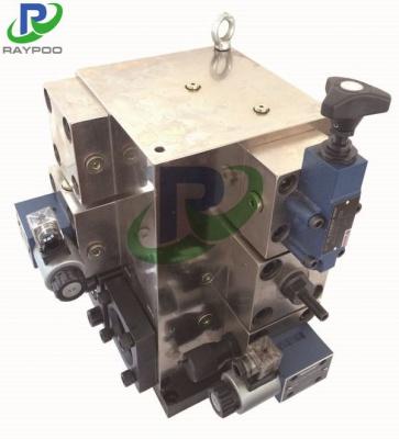 Four-column press control valve group