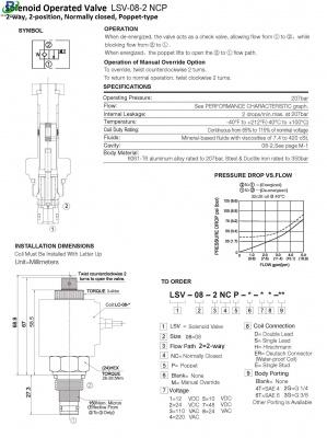 LSV-08-02 NCP 2 / 2-way solenoid valve