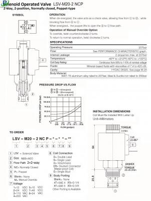 LSV-M20-2-NCP 2 / 2-way solenoid valve