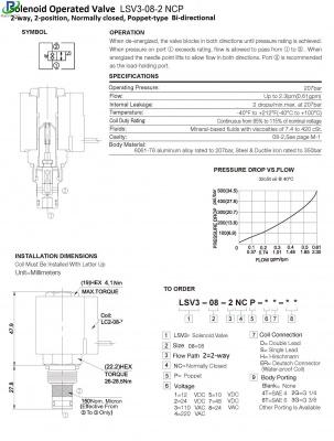 LSV3-08-2 NCP 2 / 2-way solenoid valve