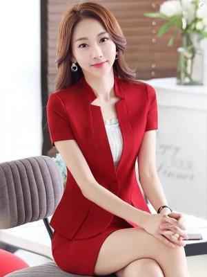 東莞職業裝訂做(女短裙款式2)