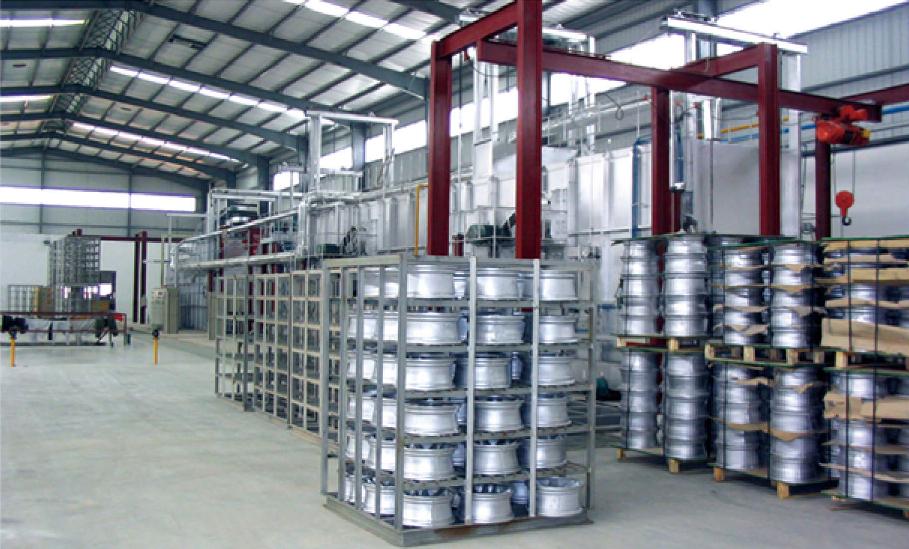 广州戴卡旭公司辊底式铝轮股燃气热处理炉