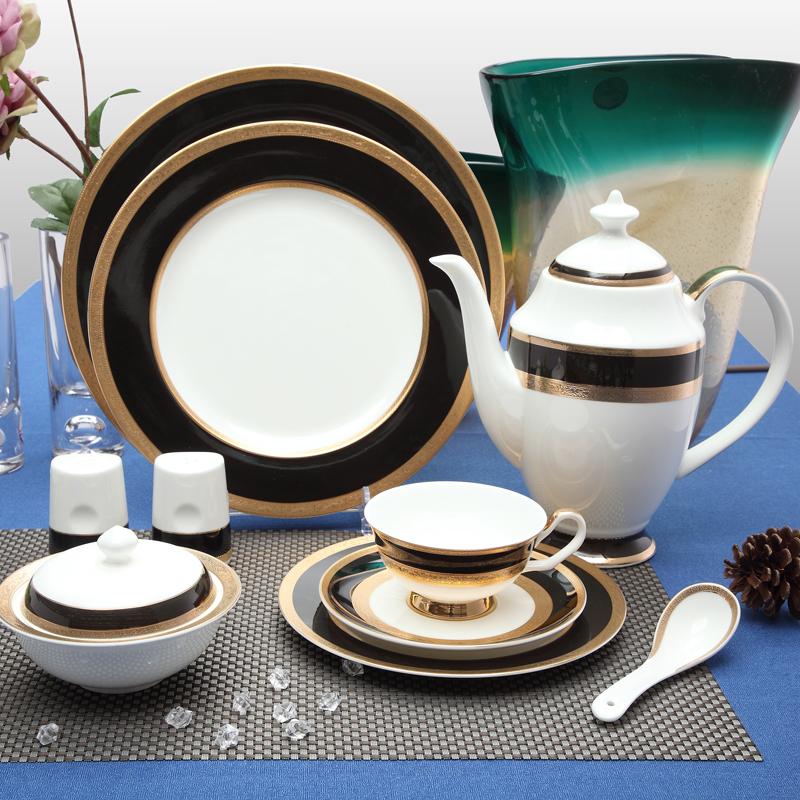 浮雕金黑 台面餐具