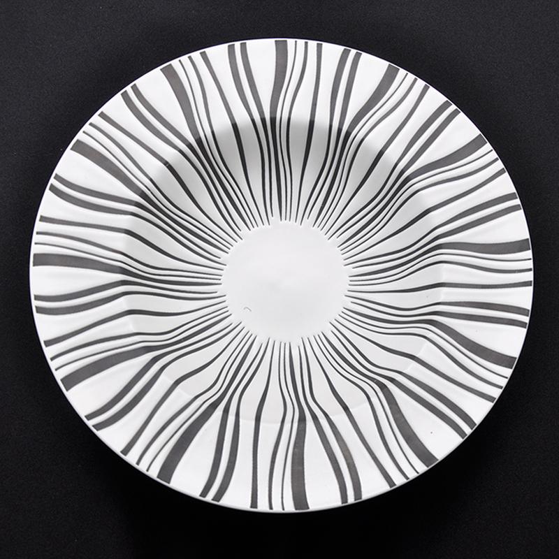 哑白线条-台面餐具