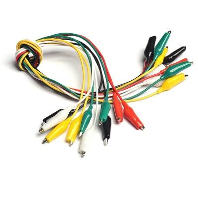 10PCS Small Size Alligator Clip Wire Alligator Clip Cable Five Colors Length 50CM