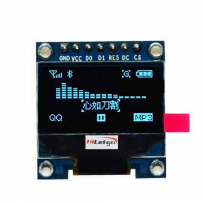 """0.96"""" SPI Serial 128X64 OLED LCD Display SSD1306 for 51 STM32 Arduino Font Color Blue"""