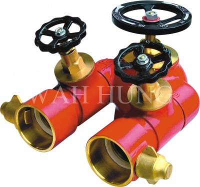 WH004 WH004 100mm Copper Alloy Individual Control Twin Outlet Valve