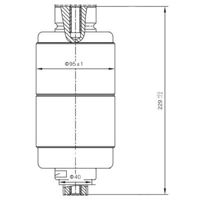 Vacuum Interrupter TD-12KV 1250A 31.5Q2 (JUC2521) from JUCRO Electric