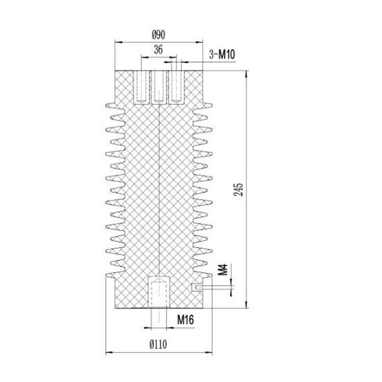 Sensor SSR-24J 110mm*245mm 24KV  from JUCRO Electric
