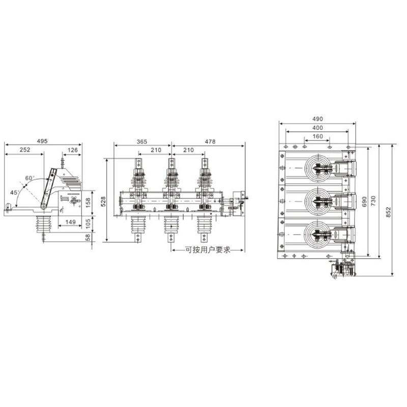 Indoor isolating switch GN38-12KV type series
