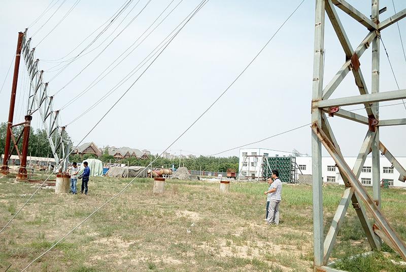 内蒙光热发电塔架基座架拉索索力测试