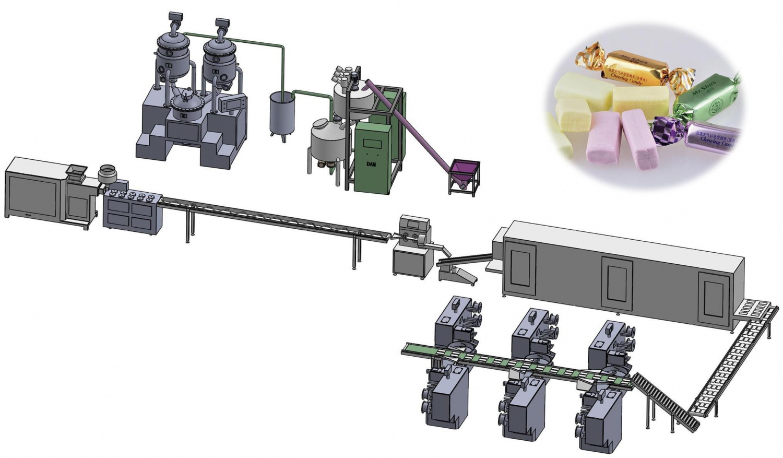 DA-750奶糖生产线