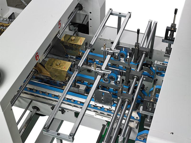 锁底部-自动高速糊折盒机